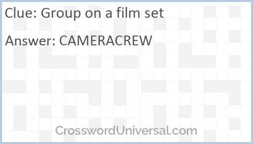 Group on a film set Answer