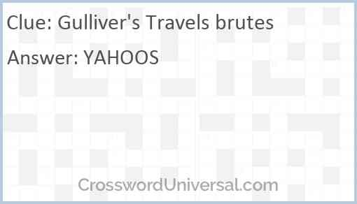 Gulliver's Travels brutes Answer