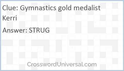 Gymnastics gold medalist Kerri Answer