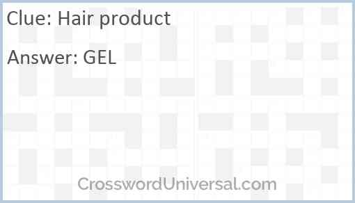 Hair product Answer