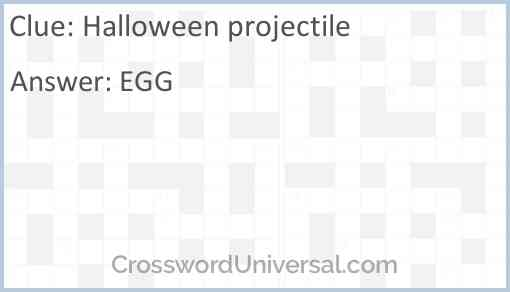 Halloween projectile Answer