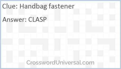 Handbag fastener Answer