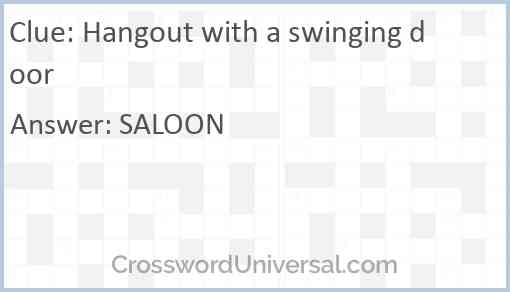 Hangout with a swinging door Answer