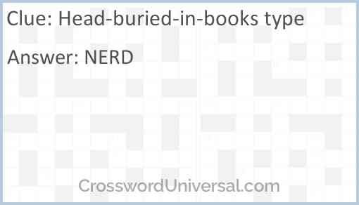 Head-buried-in-books type Answer