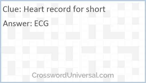 Heart record for short Answer