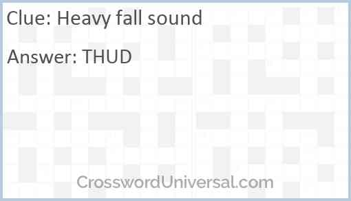 Heavy fall sound Answer