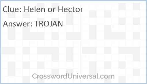 Helen or Hector Answer