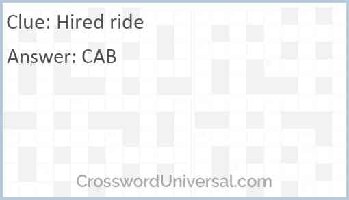 Hired ride Answer