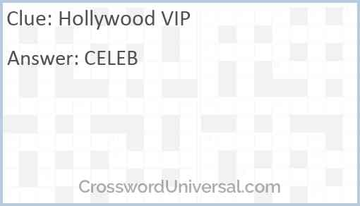 Hollywood VIP Answer