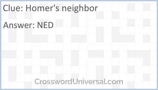 Homer's neighbor Answer