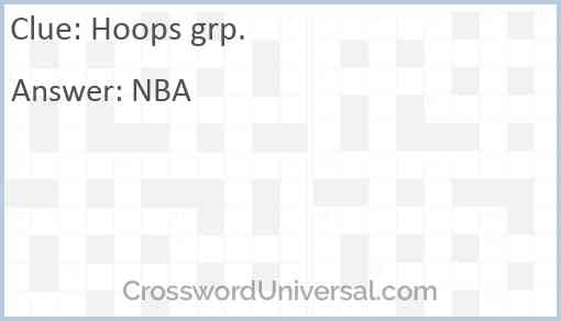 Hoops grp. Answer