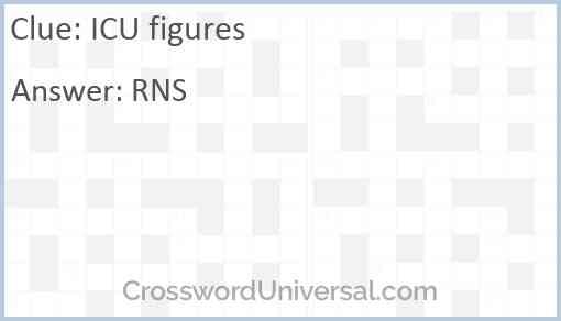 ICU figures Answer