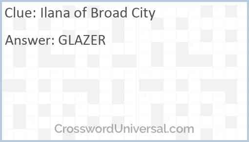 Ilana of Broad City Answer