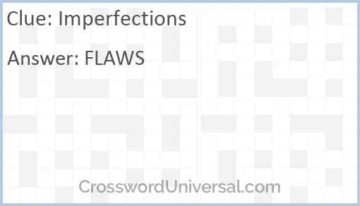 Imperfections Answer