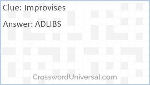 Improvises Answer