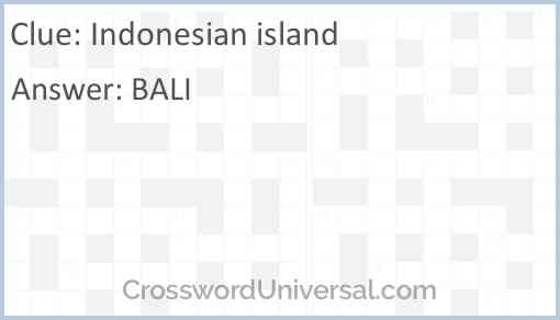Indonesian island Answer
