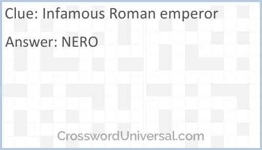 Infamous Roman emperor Answer