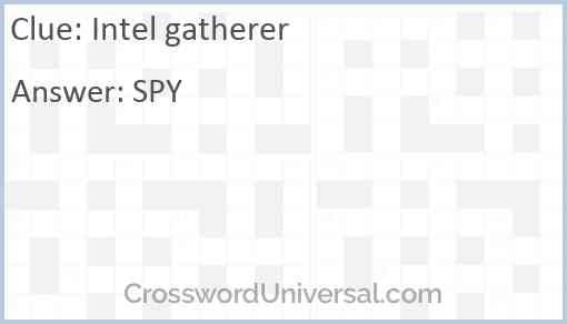 Intel gatherer Answer