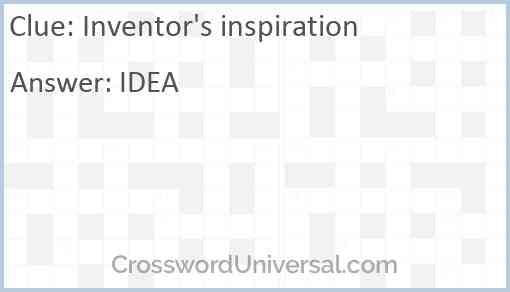 Inventor's inspiration Answer