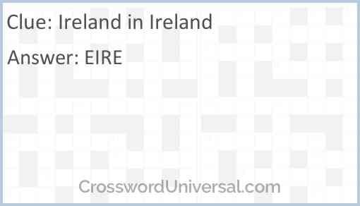 Ireland in Ireland Answer