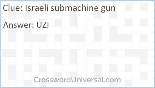 Israeli submachine gun Answer
