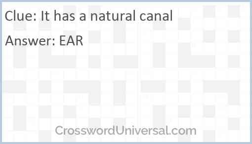 It has a natural canal Answer