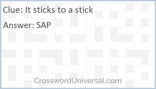 It sticks to a stick Answer