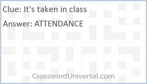 It's taken in class Answer