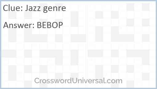 Jazz genre Answer