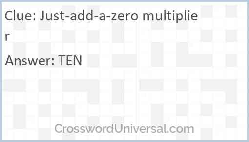 Just-add-a-zero multiplier Answer