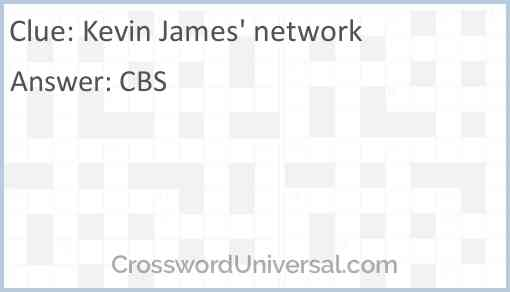 Kevin James' network Answer