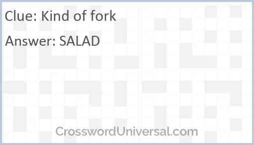 Kind of fork Answer