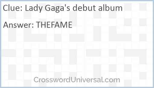 Lady Gaga's debut album Answer