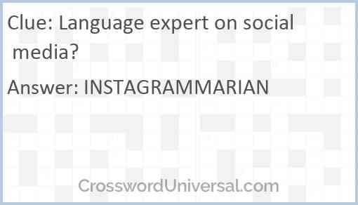 Language expert on social media? Answer