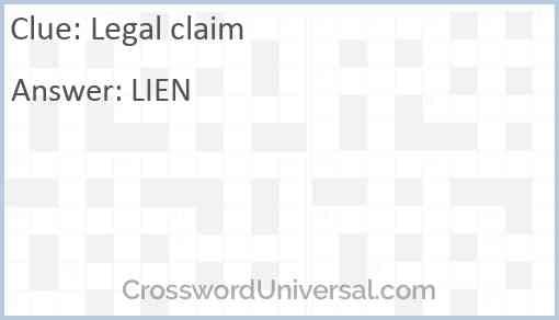 Legal claim Answer
