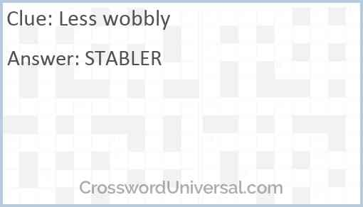 Less wobbly Answer