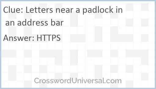 Letters near a padlock in an address bar Answer