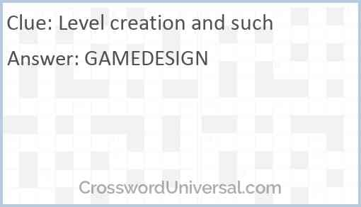 Level creation and such Answer