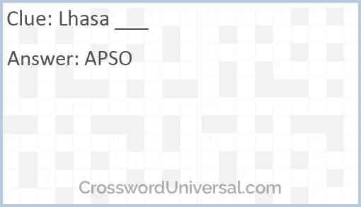 Lhasa ___ Answer