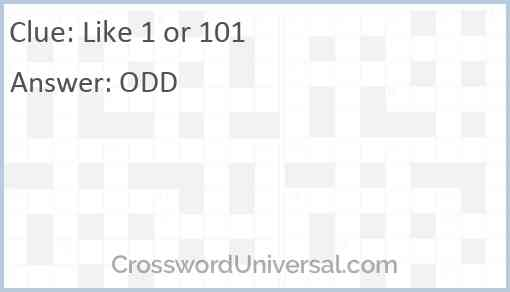 Like 1 or 101 Answer