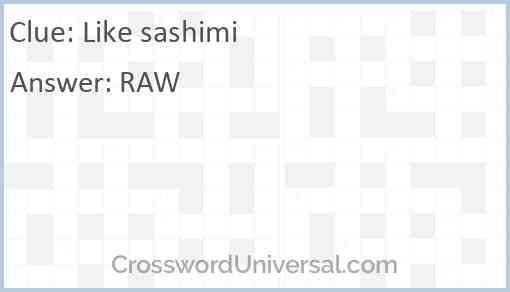 Like sashimi Answer