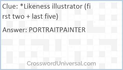 *Likeness illustrator (first two + last five) Answer