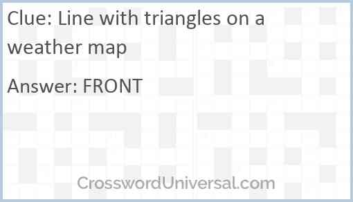 Line with triangles on a weather map Answer