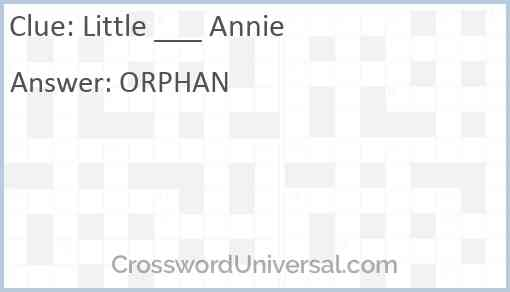 Little ___ Annie Answer