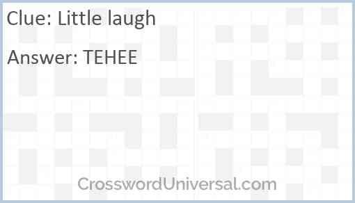 Little laugh Answer