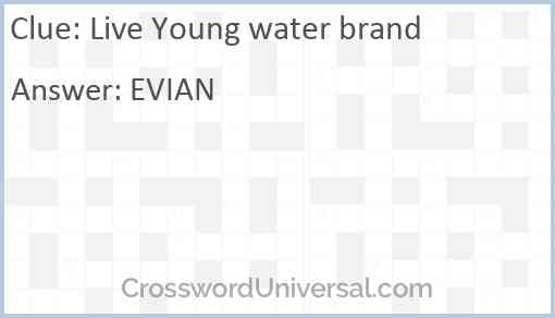 Live Young water brand Answer