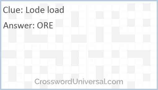 Lode load Answer