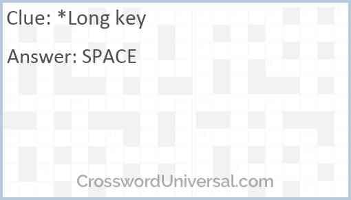 *Long key Answer