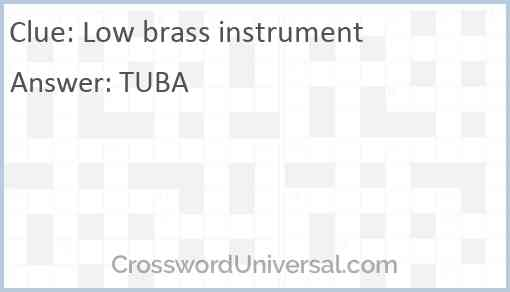 Low brass instrument Answer