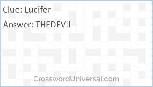 Lucifer Answer